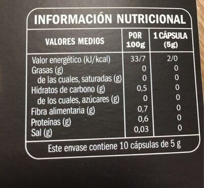 Café suave Nº6 en capsulas - Información nutricional - es