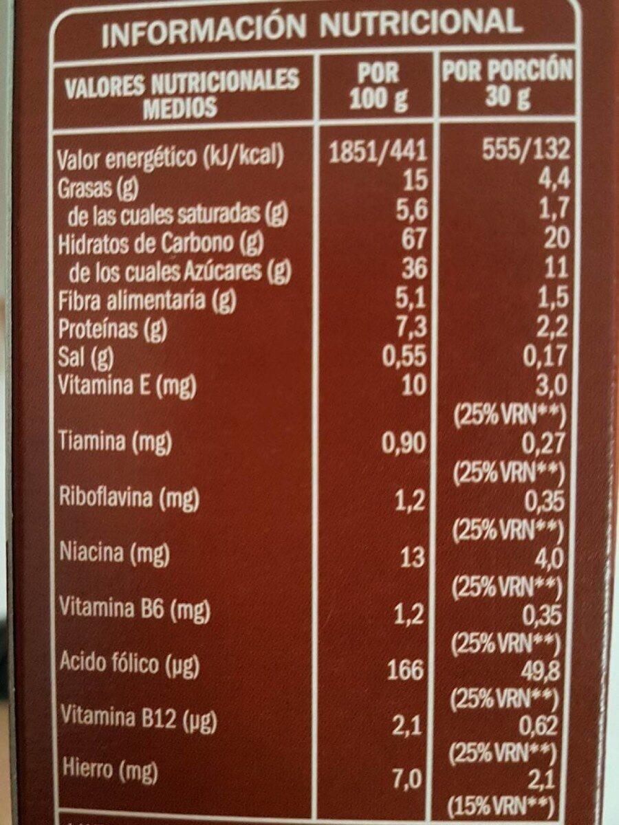 Cereales Almohadillas Choco. 500 G. ifa Eliges - Informació nutricional