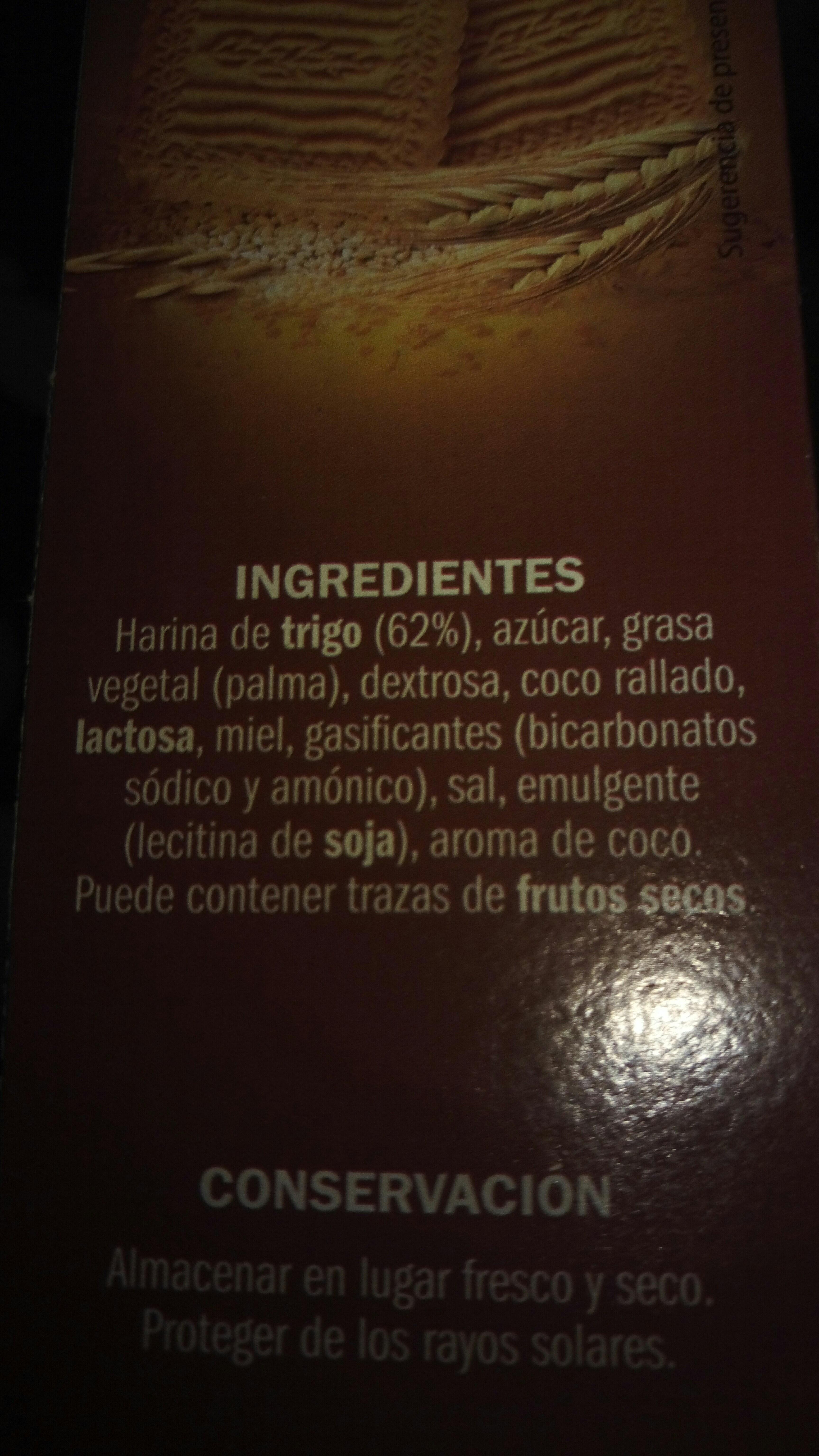 Galleta relieve - Ingrédients