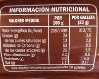 Galletas digestive - Informació nutricional - es