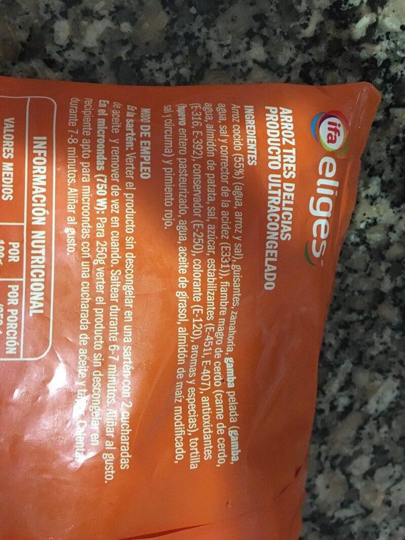 Arroz tres delicias - Ingredients