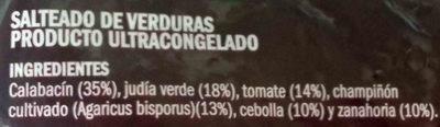Salteado campestre - Ingredients