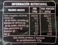 Salteado campestre - Nutrition facts