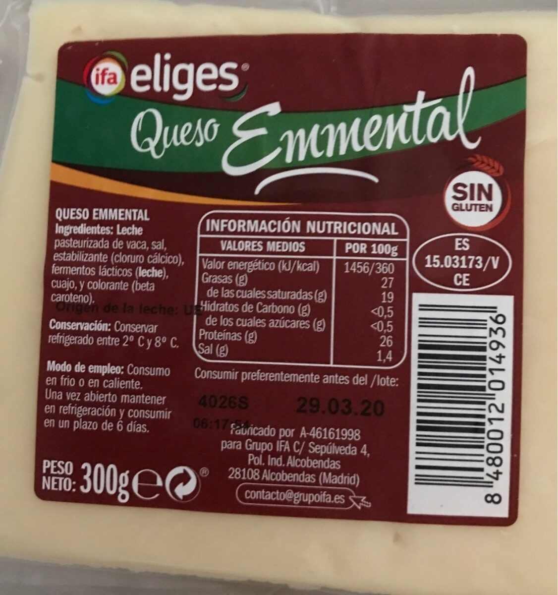 Queso Emmental - Product