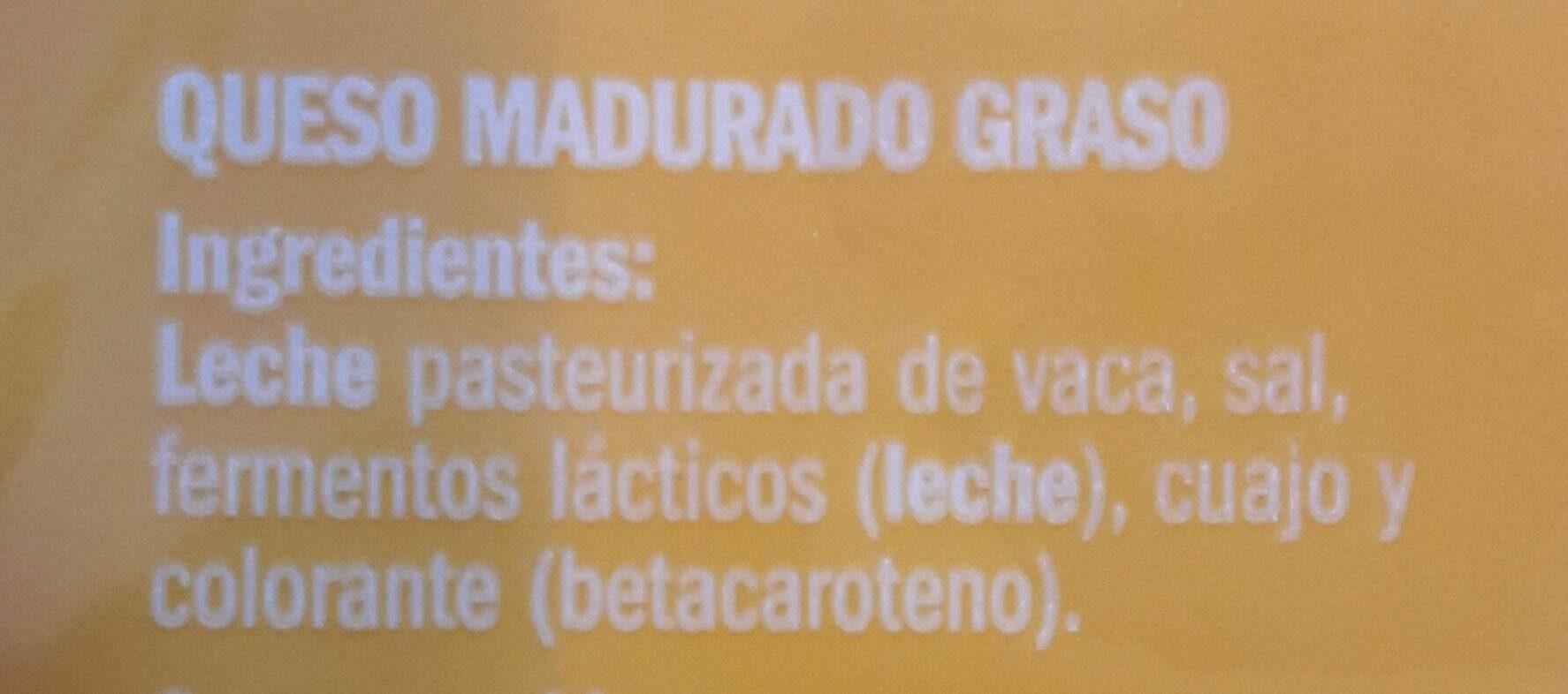 Gouda - Ingrediënten - es