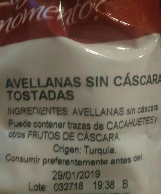 Frutos secos - Ingredients