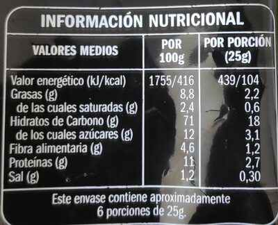Frutos secos cocktail oriental - Nutrition facts