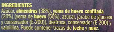 Turrón de yema tostada - Ingredients