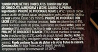 Praliné de tres chocolates - Ingredients