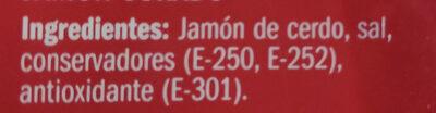 Jamon Curado Lonchas - Ingrédients - fr