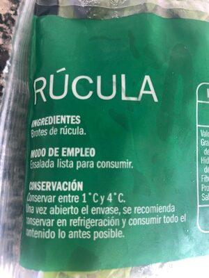 Rúcula ensalada lista para consumir - Ingrédients - es