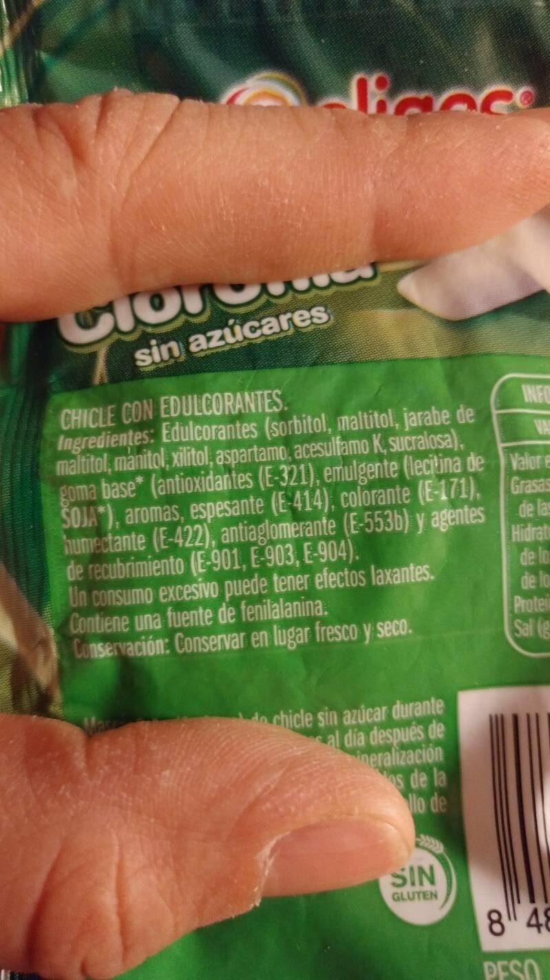 Chicle - Ingrediënten