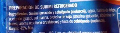 Magníficas del mar - Ingredients - es