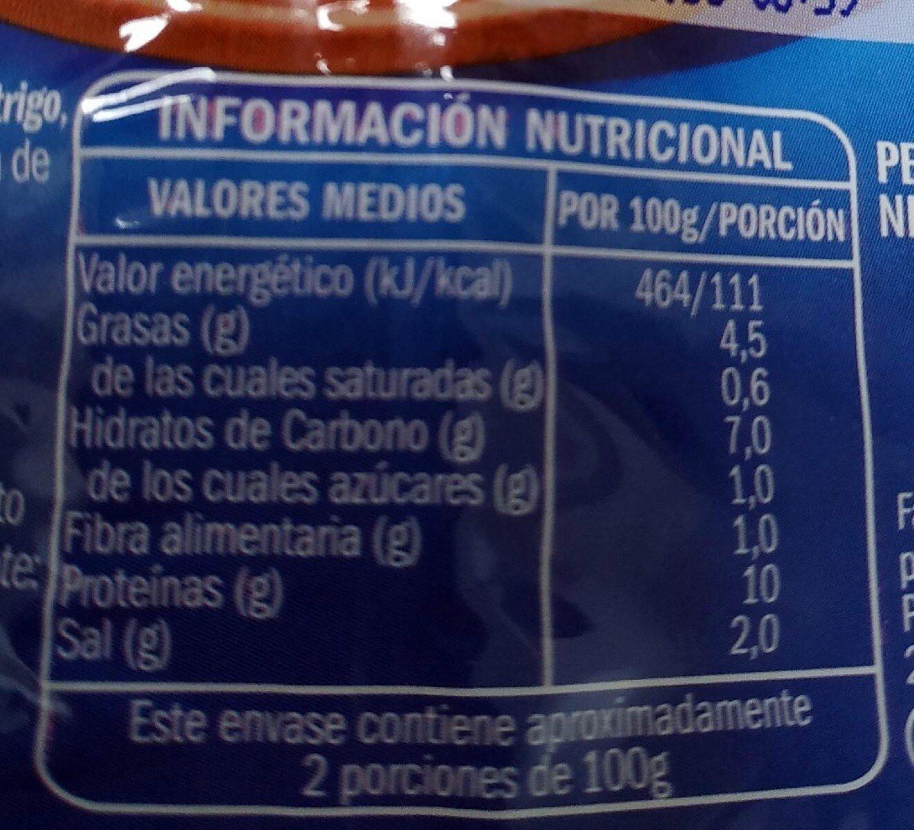 Magníficas del mar - Nutrition facts - es