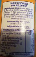Yogur con trozos de melocotón - Voedigswaarden