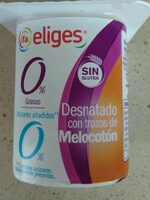 Yogur desnatado edulcorado melocoton - Product