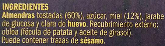 Turrón de Alicante - Ingredientes - es