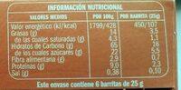 Barritas de cereales con avellanas - Nutrition facts - es