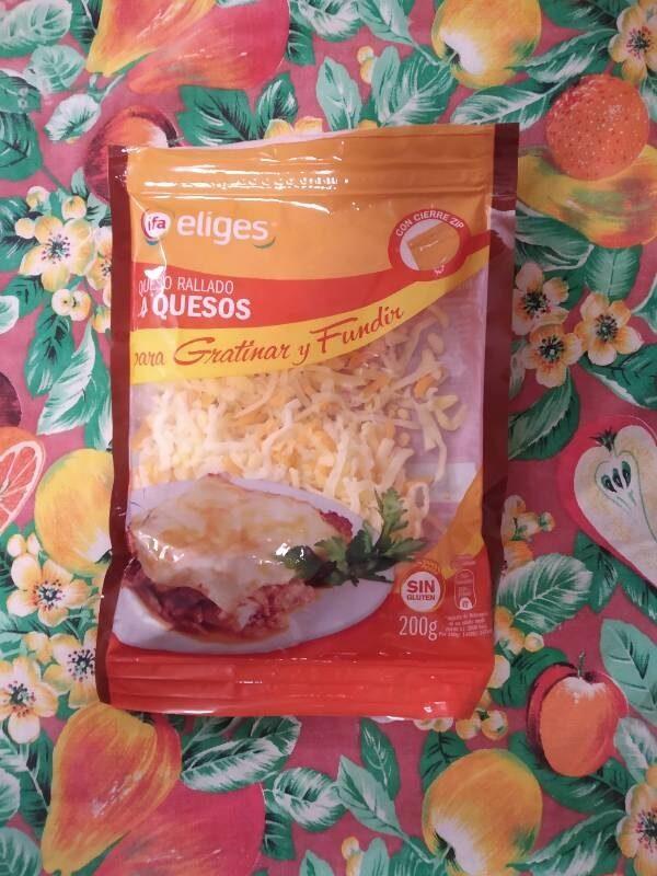Queso rallado 4 quesos - Producte - es