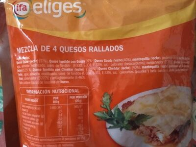 Queso rallado 4 quesos - Ingredients