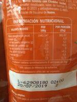 Queso rallado 4 quesos - Informació nutricional - es