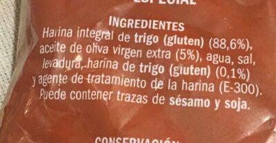 Camperos integrales - Ingredientes - es
