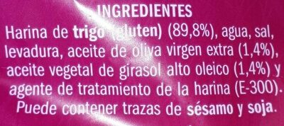 Trencinas - Ingredients - es