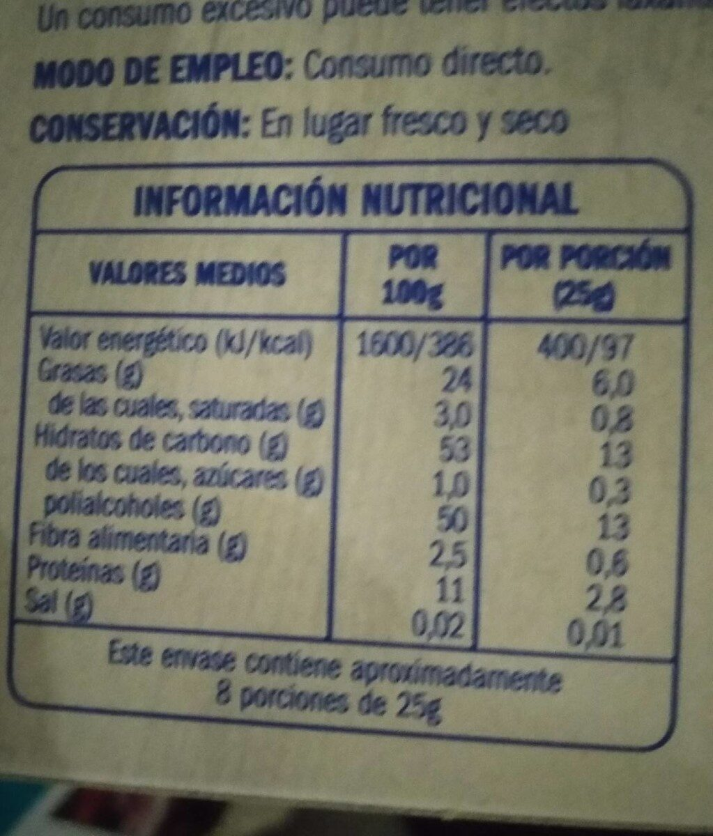 Turrón de yema tostada - Nutrition facts