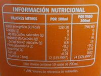 Florida - Información nutricional