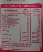 Bebida soja light - Información nutricional - es