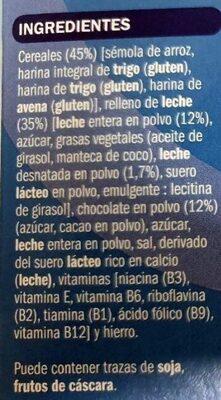 Mini almohadillas rellenas de leche - Ingredients - es