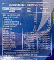Mini almohadillas rellenas de leche - Nutrition facts - es