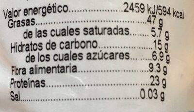 Pistacho tostado sin sal añadida - Información nutricional - es