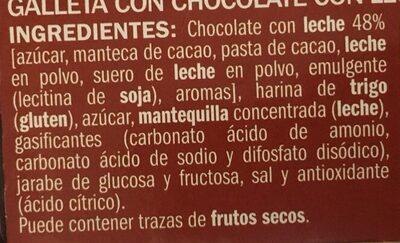Galleta tableta chocolate con leche - Ingrediënten - es