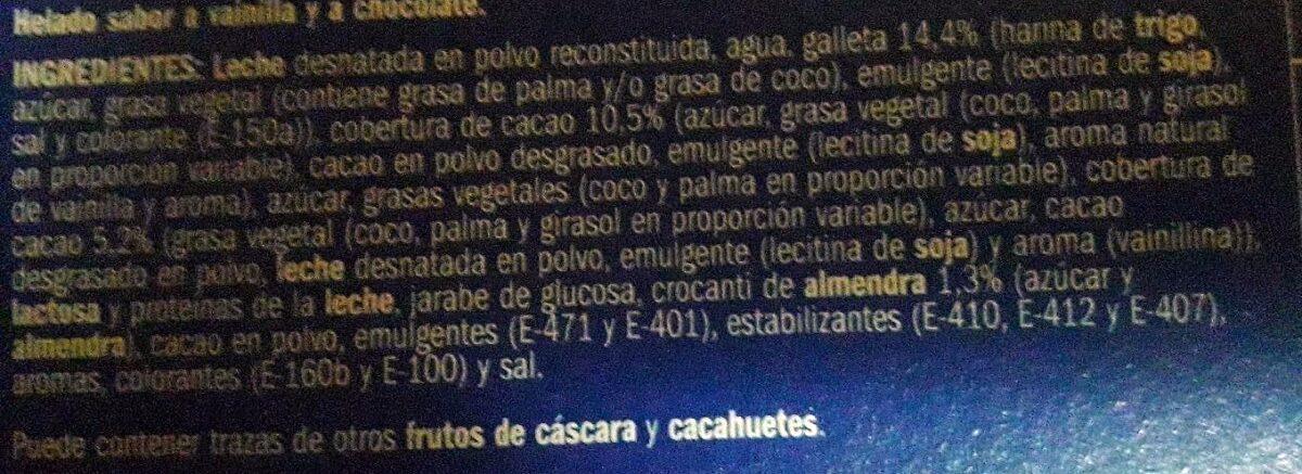 Cono vainilla y chocolate - Ingredients - es