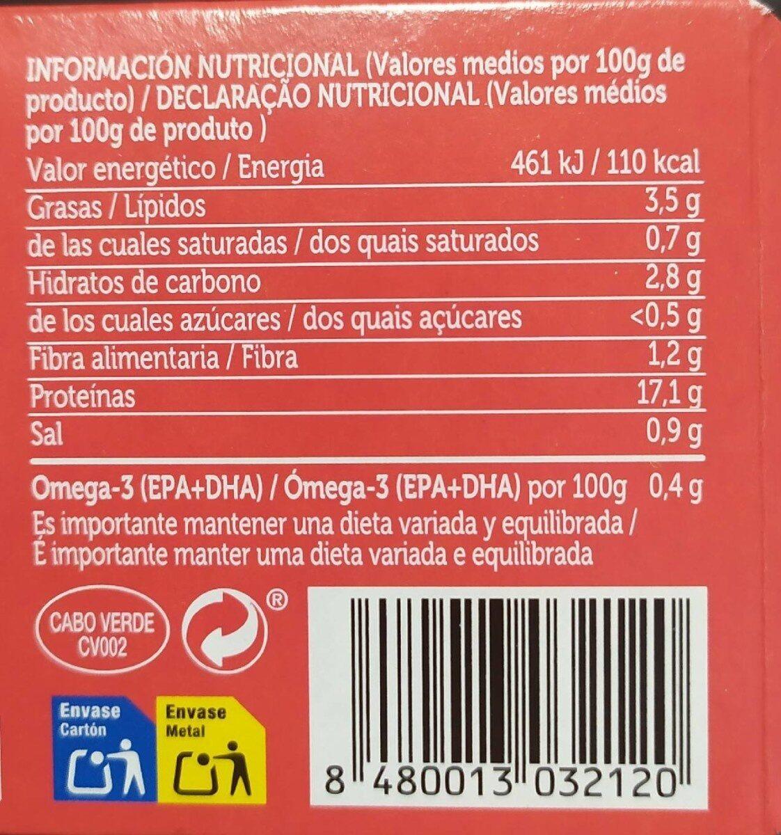 Filetes de Caballa del Sur - Voedingswaarden - fr