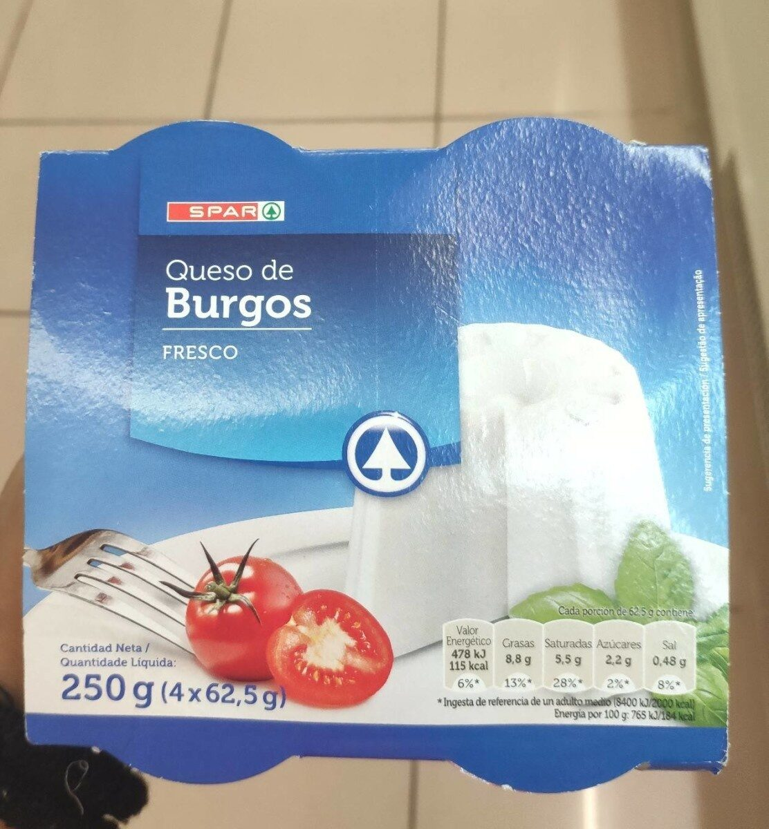 Queso Burgos desnatado - Product