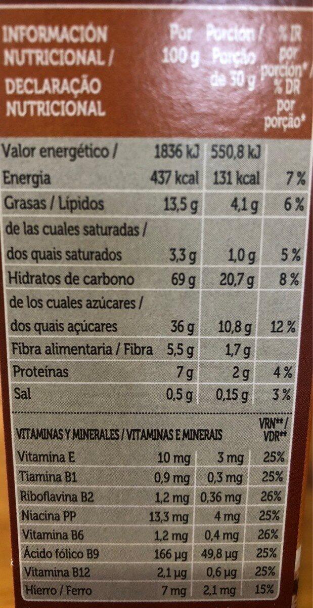 Cereais Spar Choco Mix - Informations nutritionnelles - es