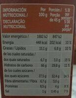 Muesli con chocolate - Voedingswaarden - es
