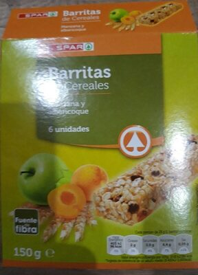 Barritas de Cereales. Manzana y albaricoque - Producto