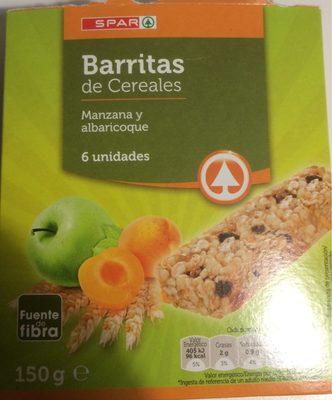 Barres de céréales Pomme et abricot par 6 - Produit