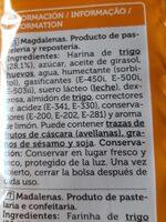 Magdalenas Valencianas - Ingredients - es