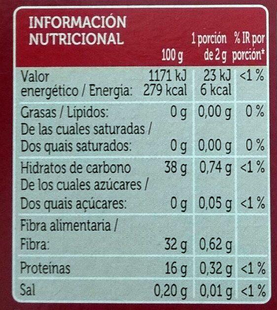 Café soluble descafeinado - Informació nutricional - es
