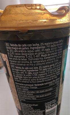 Cappuccino Spar - Ingrediënten