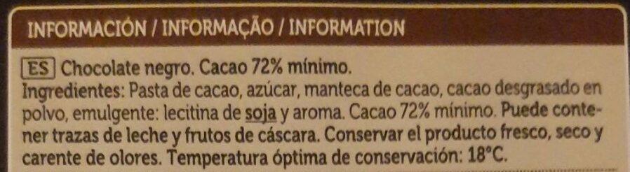 Chocolate negro - Ingrediënten - es