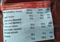 Snackspartorresmporcobaconral110grcx12 - Informació nutricional - es