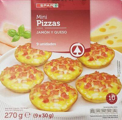 Mini pizzas jamon y queso