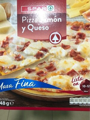 Pizza jamon y queso