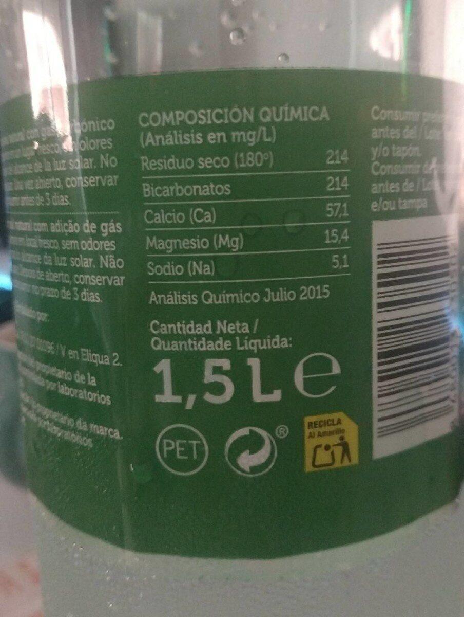 Agua mineral - Voedingswaarden - fr