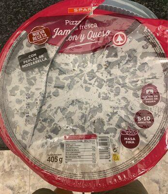 Pizza fresca - Jamon y queso